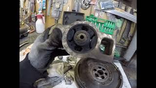 Flywheel,tushunish va crankshaft muhr o'rniga.Skoda Octavia A5.1.9 tdi