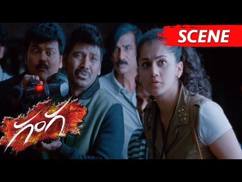 Taapsee Found Nitya Menon's Locket - Scary Scene - Ganga Movie Scenes