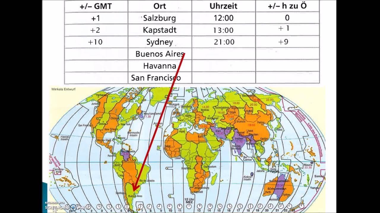 Zeitzonen verstehen und berechnen - YouTube