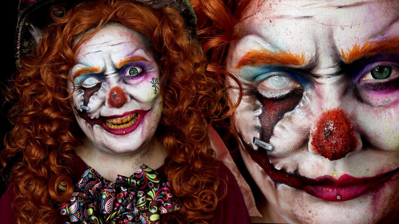Mad Hatter Evil Clown Wonderland Makeup Tutorial - YouTube