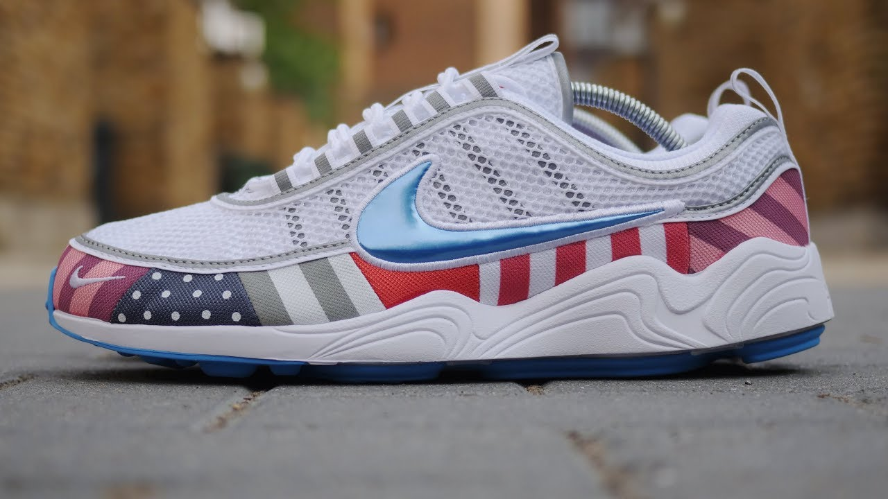 huge discount f8f2c 2be14 Nike x Parra Air Zoom Spiridon Quick Look & On Feet (White/Multi) *2018*