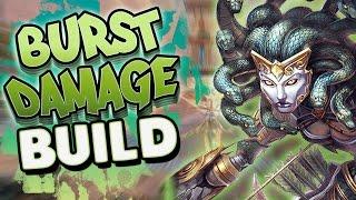 Smite: Burst Damage Medusa Build - FLASH BANG OUT!