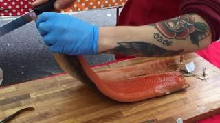 Копченый лосось из Норвегии   лучший в Лондоне   London Street Food ИНТЕРЕСНОЕ ВИДЕО