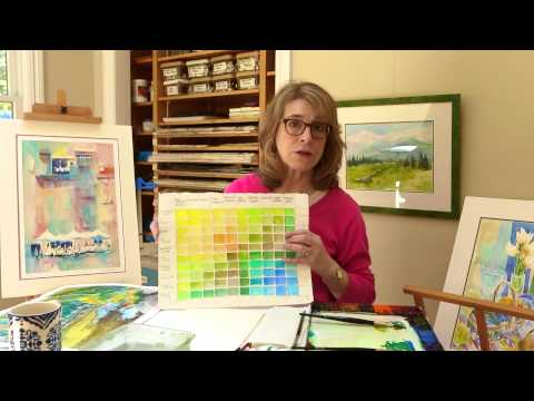 Watercolor 101: Mixing Greens For Watercolor Landscapes