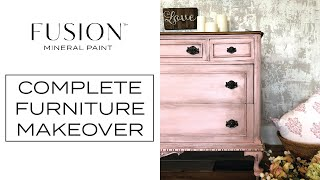 Fusion™ Mineral Paint Furniture Makeover: English Rose Dresser