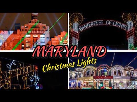Christmas Lights Around Maryland 🦀 🏈 🍺