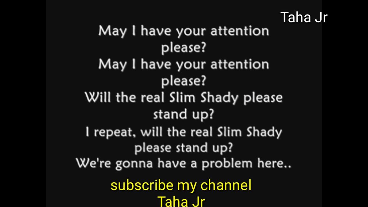 please stand up eminem lyrics
