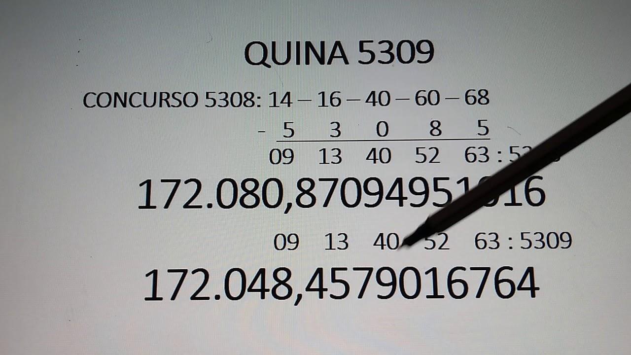 #JOGO#DA#QUINA                                          QUINA 5309