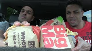 Eating Burger King Whoppers & Mcdonald's Big Macs @Hodgetwins
