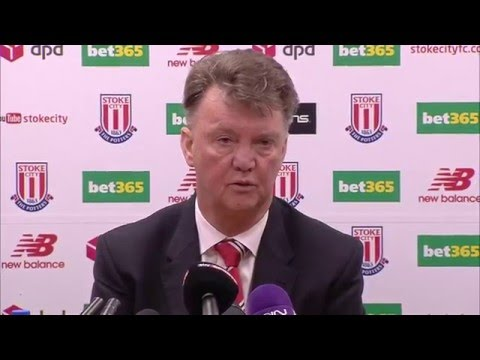 Louis van Gaal post Man United's 2-0 defeat at Stoke
