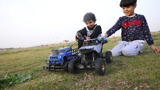 تحدي سيارات الريموت القويه الجديده بالرمل بين زياد والياس-غرزوا