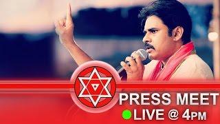 jana sena party formation day   press meet live   website launch   pawan kalyan