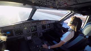 エアバスA320コクピットビュー 副操縦士の着陸