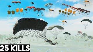 EVERYONE DROPPED MILITARY!! | 25 KILLS SOLO vs SQUAD | PUBG Mobile 🐼