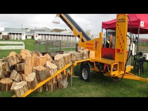 10 Amazing Automatic Firewood Processing Machine, Homemade Modern Wood Cutting Chainsaw Machines