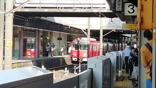 名鉄3700系3705F普通佐屋行金山1番線発車