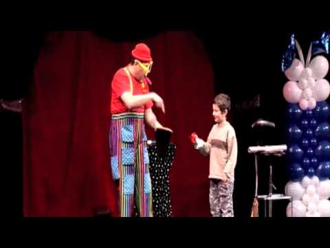 Silly Billy performs his silent magic comedy clown act in Croatia