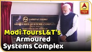 PM Modi Inspects 'Vajra' At L&T's Armoured Systems Complex In Hazira | ABP News