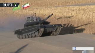 Russian T 90MS twin  Iran kicks off mass production of domestic main battle tank
