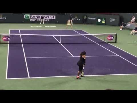 GOAT Serena Williams Comeback Serving in Indian Wells victory vs. Zarina Diyas March 8, 2018