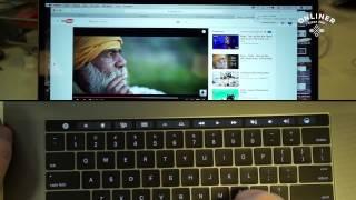Беглый взгляд на функции Touch Bar нового Mac Book Pro