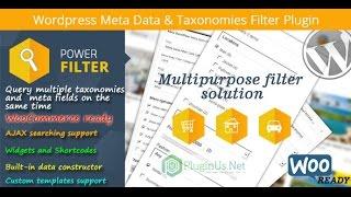 WordPress Meta Data Filter по русски - урок 15 - Taxonomy Chain Menu