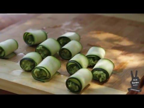 Easy To Make Vegan Pesto Avocado Zucchini Rolls | By Grub Garden