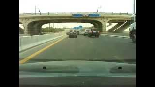 Driving from Ajman Mushairif to Sharjah University City.