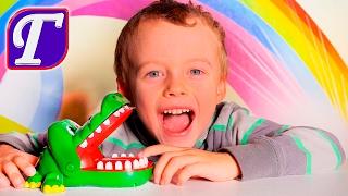 КРОКОДИЛ ЧЕЛЛЕНДЖ Крокодил Дантист Кусает Макса Вызов Принят Много Вкусных Конфет Сhallenge for kids