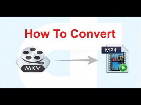 Convert MKV to MP4 using VLC