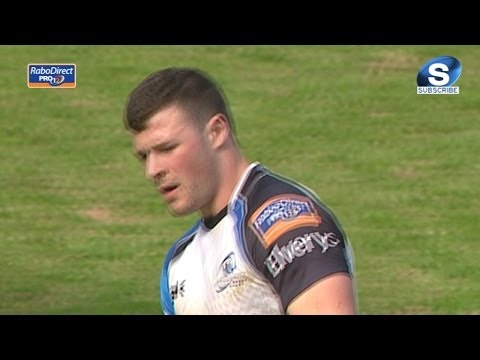 Great counter attack finished by Robbie Henshaw Try - Scarlets v Connacht March 30th 2014