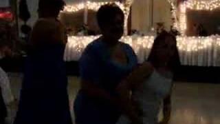 Grandma Karen and Lindsey dancing