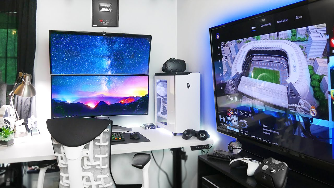 My insane gaming setup room tour 2016 summer youtube How to make a gaming setup in your room