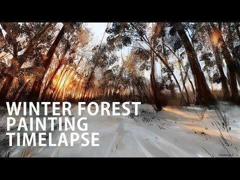 How To Paint a Winter Forest