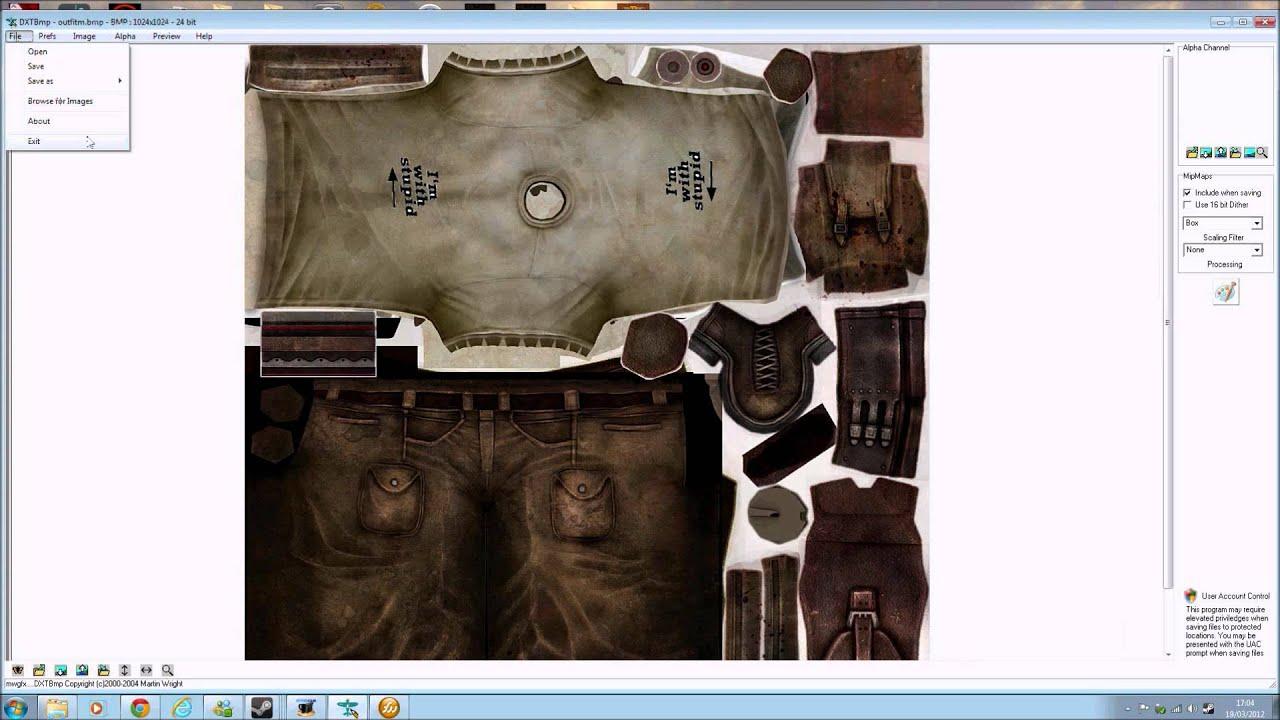 g e c k tutorial  oblivion fallout 3 nv   making clothing
