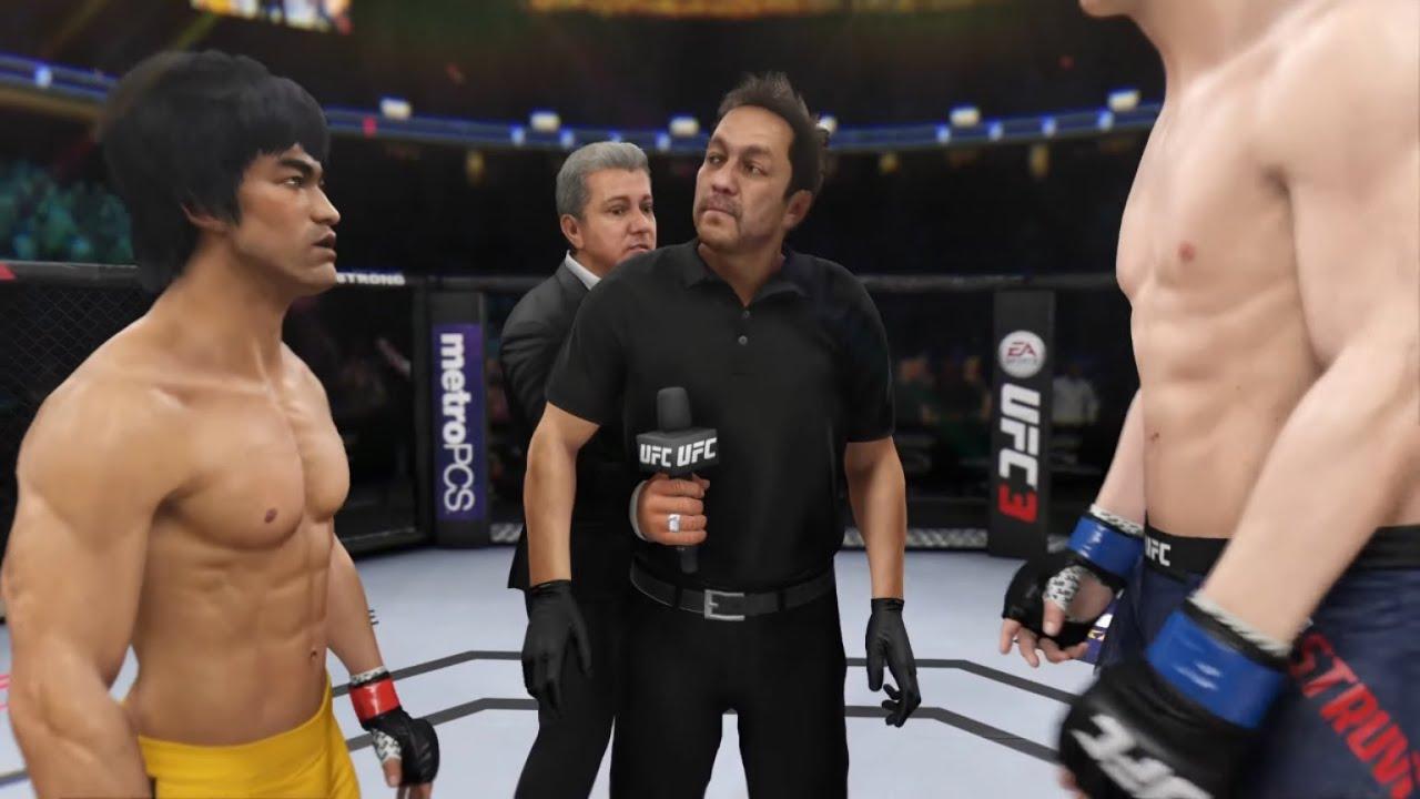 Bruce Lee vs. Skyscraper (EA Sports UFC 3) - Crazy UFC ??