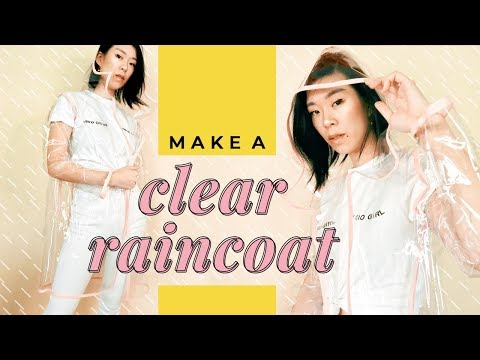 DIY 🌧️CLEAR RAINCOAT🌧️ | WITHWENDY