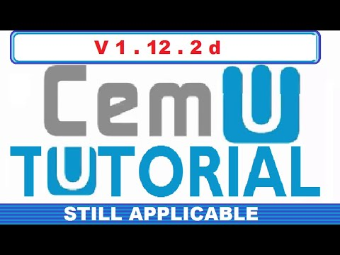 HOW TO PLAY WII U GAMES ON PC USING CEMU (WORKS WITH CEMU 1 12 2d)