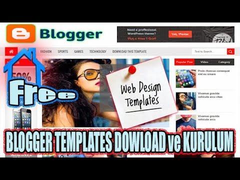 Blogger Tema Yükleme Öncesi Ve Sonrası 2017