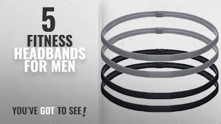 Top 10 Fitness Headbands For Men [2018]: 4 Pieces Thick Non-slip Elastic Sport Headbands Hair
