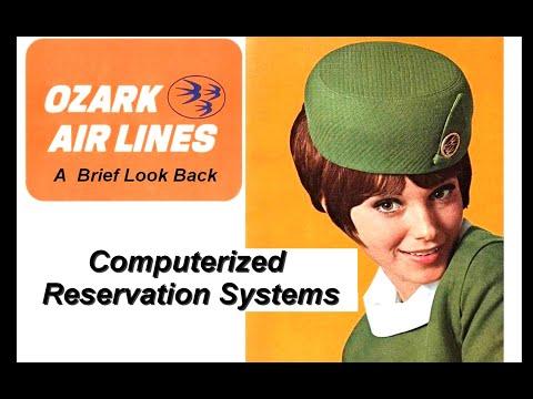 Vintage Computer Reservation System: OZARK AIR LINES  (UNIVAC, IBM, Airline History)