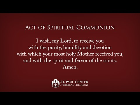 An Act of Spiritual Communion