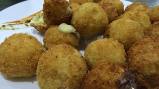 Chicken cheese ball - English subtitle | chicken cheese pops