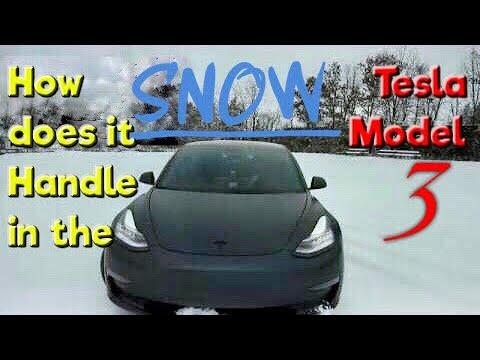 Tesla Model 3 Rwd How S It In The Snow