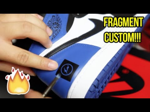 AIR JORDAN 'FRAGMENT' 1 CUSTOM + TUTORIAL!!!