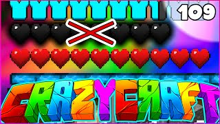 "Minecraft CRAZY CRAFT 3.0 SMP - ""I LOST MY 18 HEARTS"" - Episode 109"