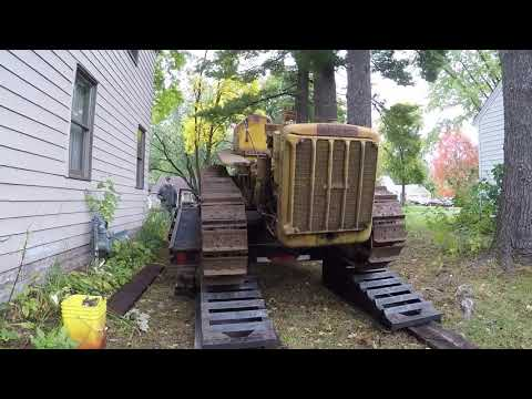 Caterpillar D2 #5J1113 Recovery Mission Part 2 - Loading and Hauling