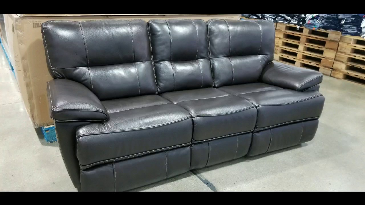 Costco Leather Dual Power Reclining Sofa 999 Youtube