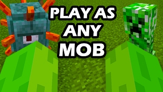 Minecraft - PLAY AS ANY MOB IN MINECRAFT! (Without Minecraft Mods)
