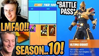 Streamers React to ALL 'NEW' Battle Pass Items - Saison X (10) Challenges! - Moments Fortnite